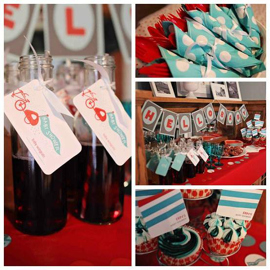 Bicycle Theme Baby Shower