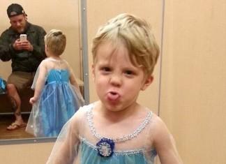 Boy in princess dress