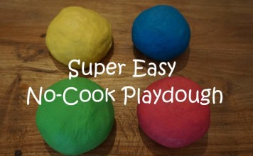 Easy No Cook Playdough Recipe