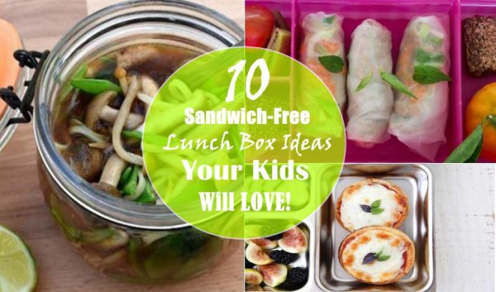 sandwich-free kids lunch box ideas
