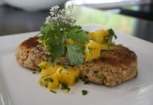 salmon cakes with mango salsa