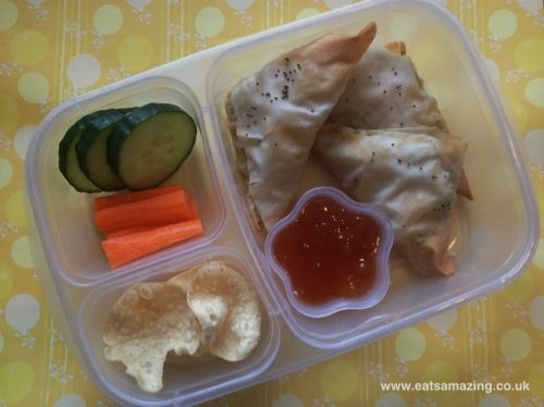 Filo curry parcels kids lunch box